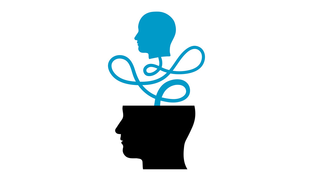 cartoon of head within head