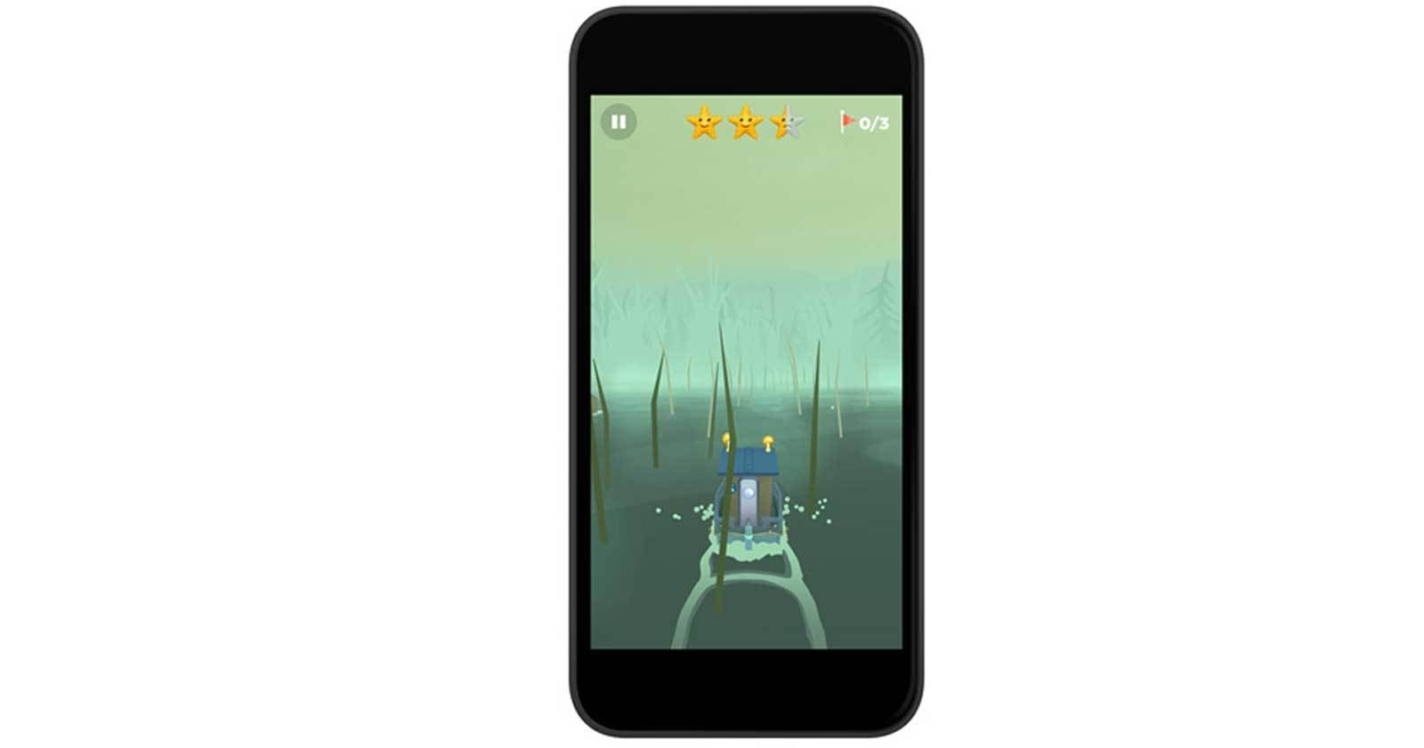 image of game on phone screen