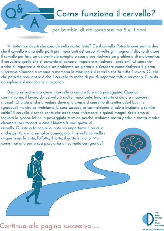 How Does the Brain Work? Grades 3-5 (Italian)