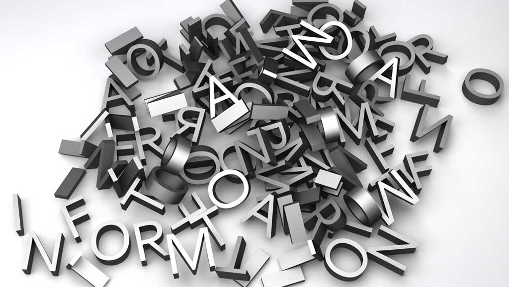 jumbled metallic letters on a table