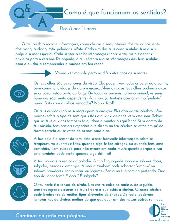 How Do the Senses Work? Grades 3-5 (Portuguese)