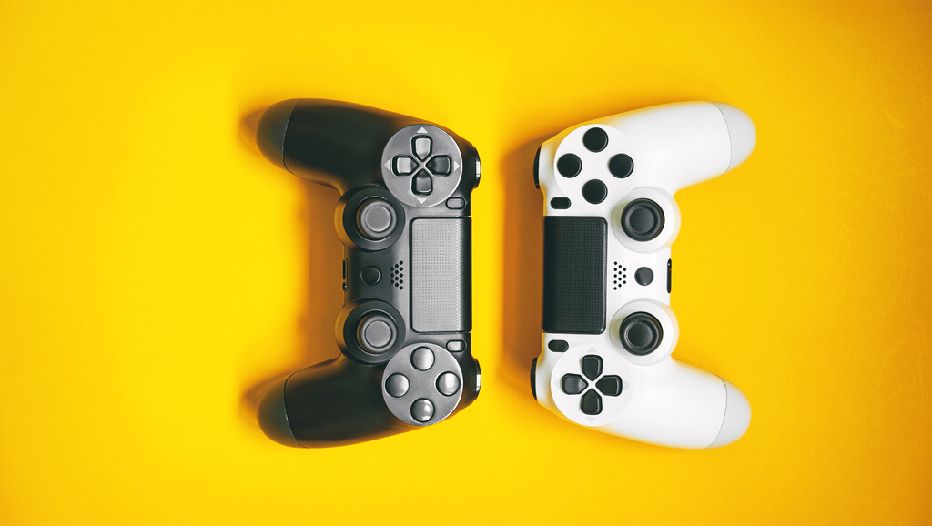 two video game controls